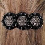 barrette pour cheveux bohème tulle