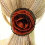 élastique pour cheveux fleur orange
