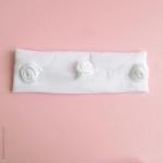 Bandeau bébé cérémonie blanc