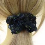 chouchou pour cheveux rétro bleu