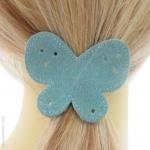 élastique papillon bleu