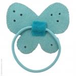 élastique pour cheveux papillon bleu