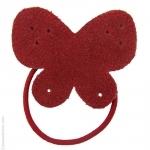 élastique cheveux papillon rouge