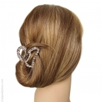 Pince cheveux strass coeur
