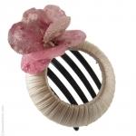 accessoire cheveux mariage  pétales roses