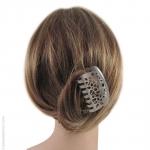 pince pour cheveux métal argenté