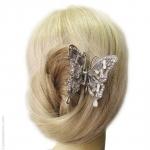 pince à cheveux métal papillon