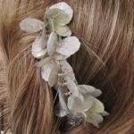 bijou de cheveux  pétales argent