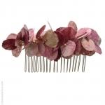 peigne bijou de cheveux pétales roses