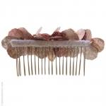 peigne à cheveux  pétales roses