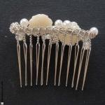 accessoire cheveux perles et fleurs