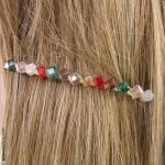 barette cheveux arlequin