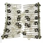 peigne brésilien perles noir et tresparent