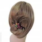 barrette cheveux perles multicolores