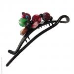 barrette pour cheveux perles multicolores