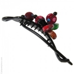 barrette decheveux perles multicolores