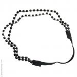 Headband perles noirs double