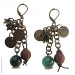 Boucles d'oreilles pierre d'agate et métal