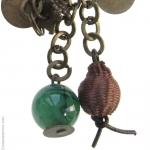 Boucles doreilles pierre dagate