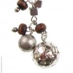 Boucles doreilles bois et perles