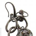 Boucles doreilles métal