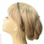 headband chaîne plate argent