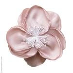 Pince cheveux fleur rose thé