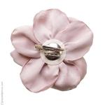 Pince à cheveux fleur rose thé