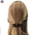 Barrette cheveux moyenne écaille foncée