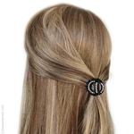petite pince cheveux strass noire