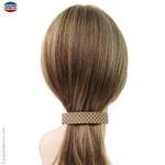 Barrette à cheveux façon matelassée beige et crème