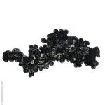 dentelle noire et perles pour chignon