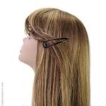 grandes barrettes cheveux clic-clac brunes