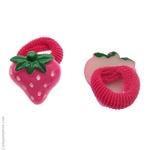 élastiques enfant fraises fuchsia