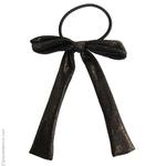 élastique cheveux noeud en tissu noir lamé or