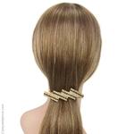 barrette pour cheveux métal doré et strass