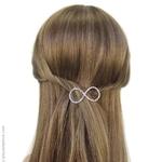 barrette cheveux métal et strass
