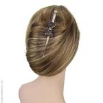Pince à cheveux or pailleté noir