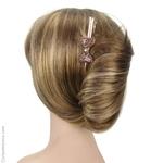 pince cheveux prune pailleté