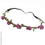 headband petites fleurs améthyste