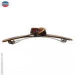 Barrette cheveux noeud marron