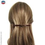 Barrette pour cheveux noeud chocolat