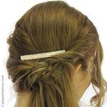 coiffure mariage avec peigne