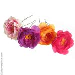 épingles à cheveux fleurs colorées