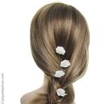 coiffure mariée fleurs blanches