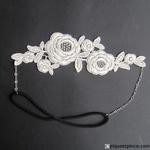 Headband dentelle mariée