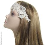 headband mariage dentelle
