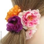 coiffure avec fleurs