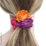 élastique fleurs pour cheveux