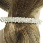 Barrette mariage perles et strass
